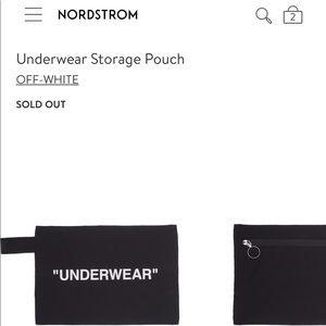 """NWT Off-White """"Underwear"""" pouch"""